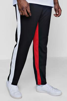 boohoo Big And Tall Slim Panel Joggers