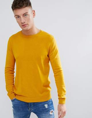 Pull&Bear Sweater In Mustard