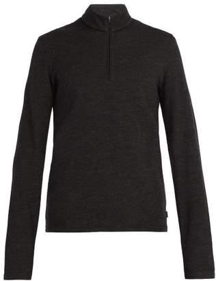 Capranea - Half Zip Wool Blend Sweater - Mens - Black