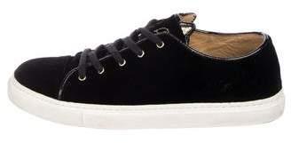 Charlotte Olympia Velvet Cat Sneakers