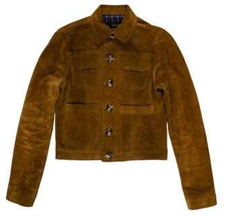 DSQUARED2 Suede Button-Up Jacket