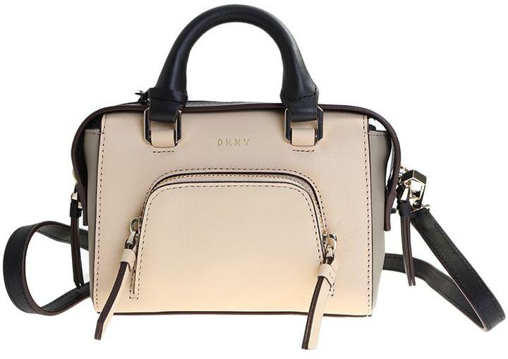 DKNYBeige Leather Greenwich Mini Bag