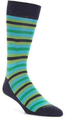 Lorenzo Uomo Organic Stripe Socks