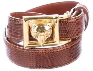 9cf3ea982988 Kieselstein-Cord Art Bronze Fox Head Belt