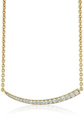 Nicole Miller Artelier Short Pave Curve Bar Necklace