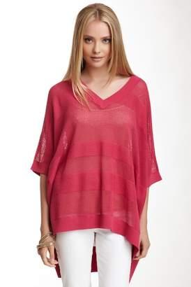 Joan Vass Oversized Linen Blend Mesh Sweater $235 thestylecure.com