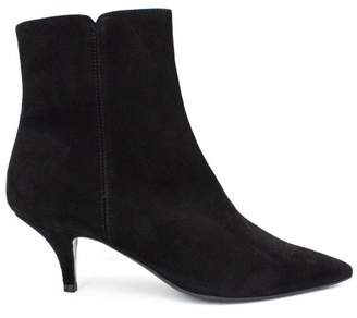 Roberto Festa Black Suede Leather Oxford Ankle Boots.