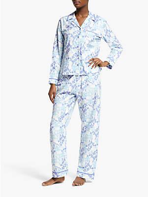 26bc92dde6e John Lewis   Partners Lily Floral Print Cotton Pyjama Set