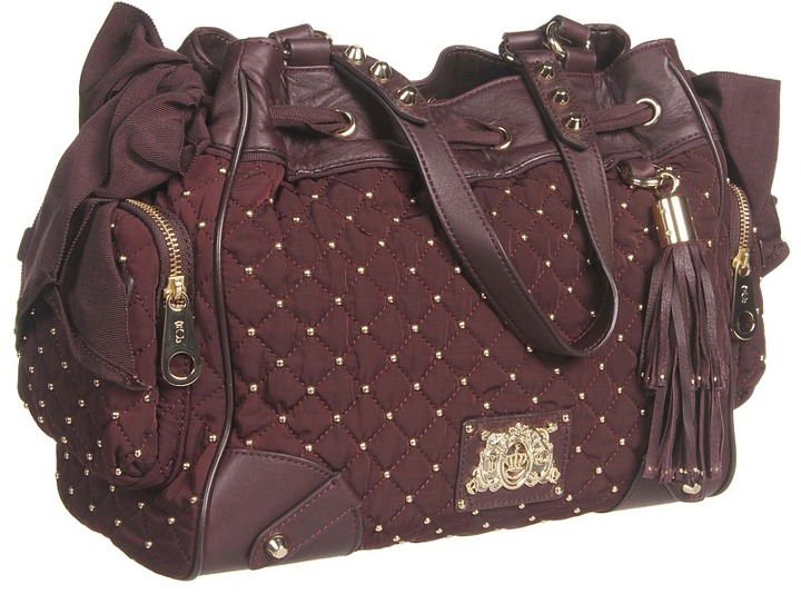 Juicy Couture Daydreamer Upscale Quilted (Dark Cabernet) - Bags and Luggage