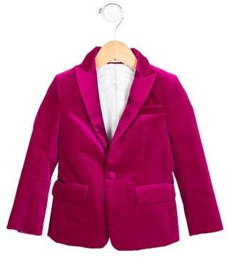 DSQUARED2 Girls' Notch-Lapel Velvet Blazer w/ Tags
