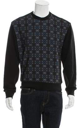 Wooyoungmi Leather-Trimmed Geometric Sweatshirt w/ Tags