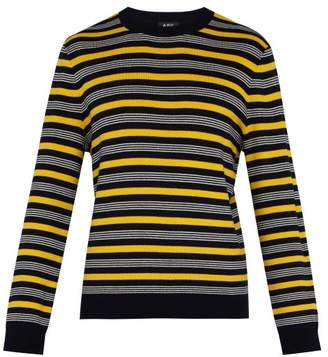 A.P.C. Pull Rick Striped Sweater - Mens - Navy Multi