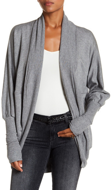H By Bordeaux Cocoon Cardigan