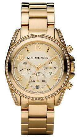 Michael Kors Golden Runway Watch with Glitz