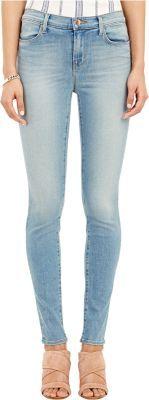 J Brand Women's Maria Super Skinny Jeans-LIGHT BLUE $178 thestylecure.com