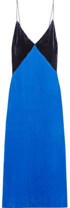 Dion Lee Velvet Slip Dress - Bright blue