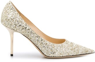 Jimmy Choo Love glitter pumps