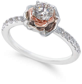 Macy's Diamond Bouquet Engagement Ring (3/4 ct. t.w.) in 14k White and Rose Gold