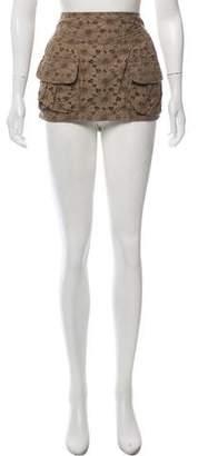 Balmain Eyelet Mini Skirt