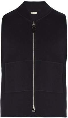 CONNOLLY Zip-through knitted cotton gilet
