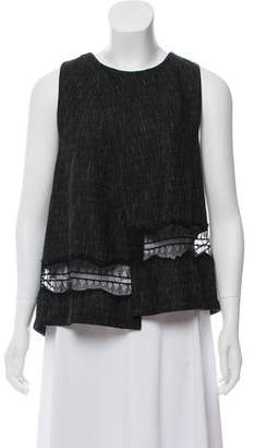 Thakoon Sleeveless Lace Accented Top