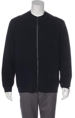 Theory Piqué Knit Zip Sweater
