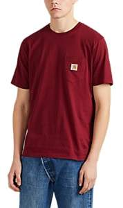 Carhartt Work in Progress Men's Logo Cotton Jersey T-Shirt - Wine