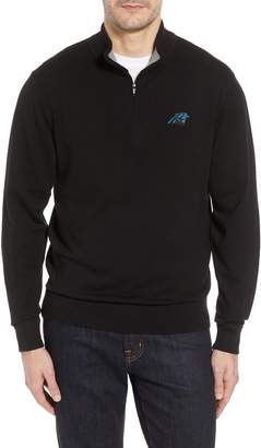 Cutter & Buck Carolina Panthers - Lakemont Regular Fit Quarter Zip Sweater