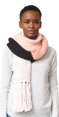 Kate Spade New York Chunky Knit Colorblock Muffler $98 thestylecure.com