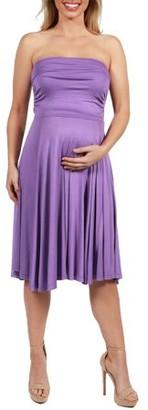 24/7 Comfort Apparel Irresistible Black Party Maternity Dress