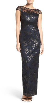 Women's Adrianna Papell Embroidered Lace Gown $219 thestylecure.com