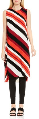 Women's Vince Camuto Nautical Bands Side Slit Tunic $89 thestylecure.com