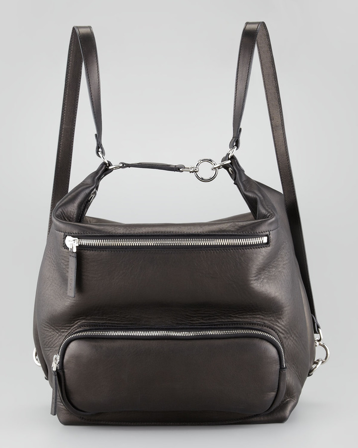 Marni Lambskin Backpack, Black