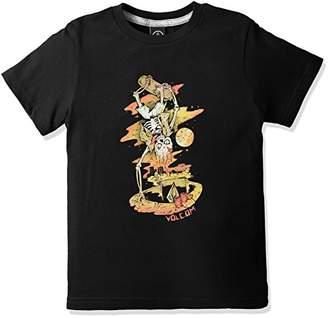 Volcom (ヴォルコム) - (ボルコム) VOLCOM 子供用 かわいい 半袖 プリント Tシャツ 【 Y3511731 / Living Shred S/S 】 Y3511731 BLK BLK_ブラック 4T