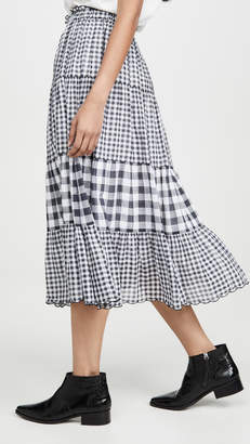 The Great The Button Up Tier Skirt