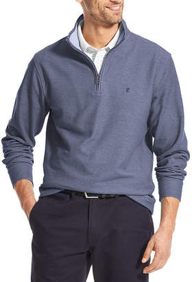 Izod Ls Saltwater Knit Mens Mock Neck Long Sleeve Quarter-Zip Pullover