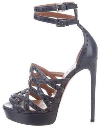Alaia Peep-Toe Platform Sandals