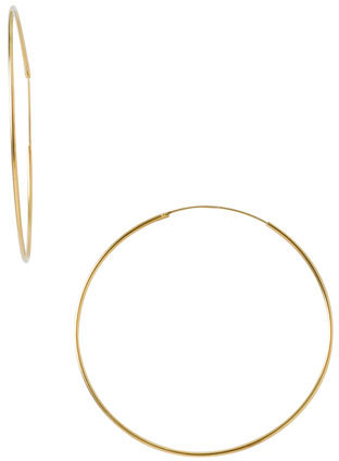 Women's Argento Vivo Endless Extra Large Hoop Earrings