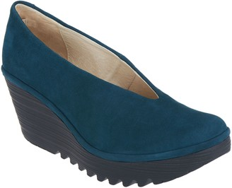 Fly London Patent Leather Slip-On Wedges - Yaz