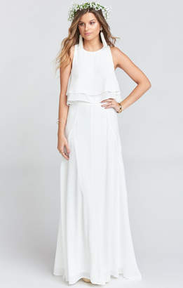 Show Me Your Mumu Princess Di Ballgown Maxi Skirt ~ Ivory Crisp