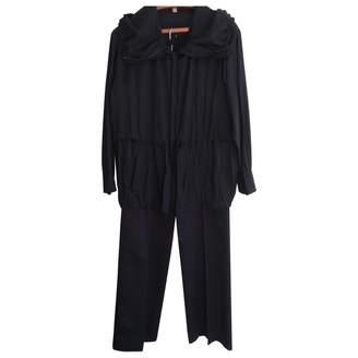 Laurèl Navy Cotton Trousers for Women