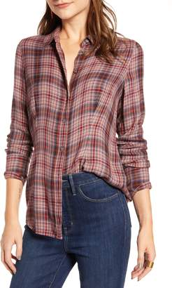 Treasure & Bond Plaid Corset Shirt