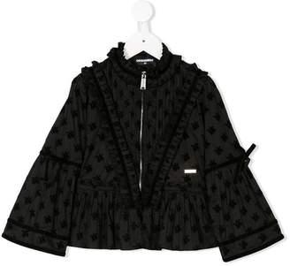 DSQUARED2 jacquard zip front blouse