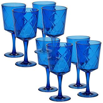 One Kings Lane Set of 8 Drazen Acrylic Goblet Set - Cobalt