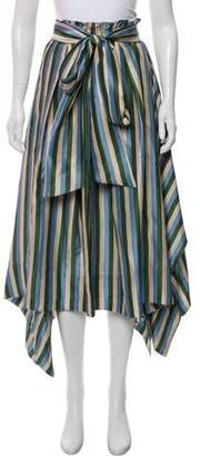 Lee Mathews Silk Midi Skirt