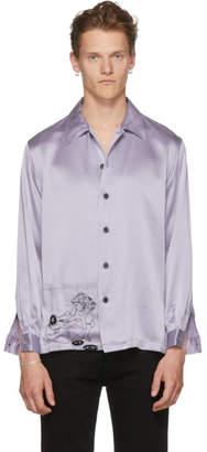 Enfants Riches Deprimes SSENSE Exclusive Blue Silk Charmeuse Shirt