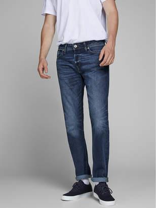 Jack and Jones Men's Comfort Fit Dark Blue Jeans