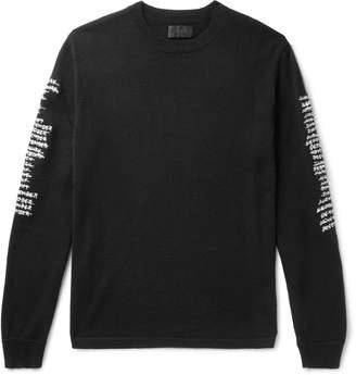 RtA Logo-Embroidered Cashmere Sweater