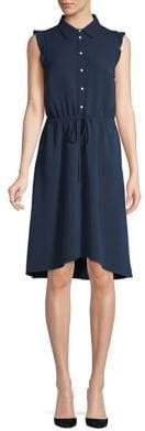 Karl Lagerfeld Paris Embellished Blouson Shirt Dress