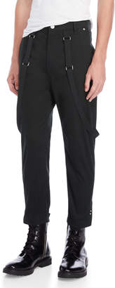 Helmut Lang Cropped Suspender Trousers
